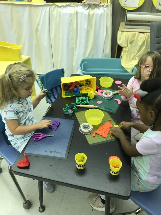 Pre-K students are fine-tuning their fine motor skills.