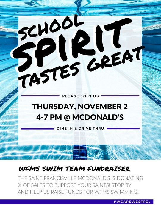 Flyer for Swim Team Fundraiser